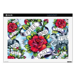 Libere - y - los rosas y la bandera fáciles del ta skins para portátiles