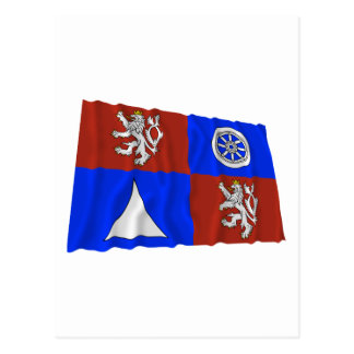 Liberec Waving Flag Postcard
