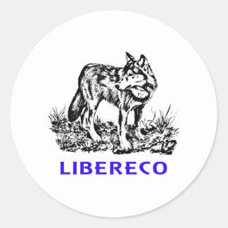 Libereco (Freedom, freedom) - Lupo EN naturo Classic Round Sticker
