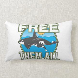 Libérelos todos (las ballenas) cojines