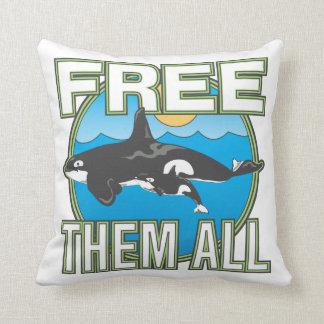 Libérelos todos (las ballenas) almohada