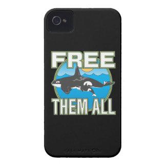 Libérelos todos (las ballenas) funda para iPhone 4 de Case-Mate