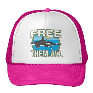 Libérelos todos (las ballenas) gorro de camionero