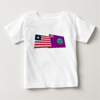 Liberia and Bomi County Waving Flags Infant T-shirt