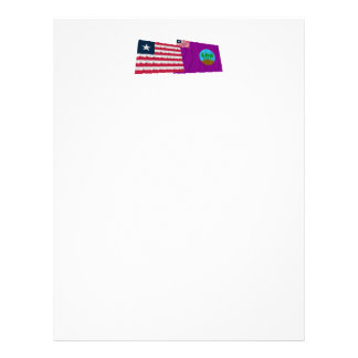 Liberia and Bomi County Waving Flags Letterhead