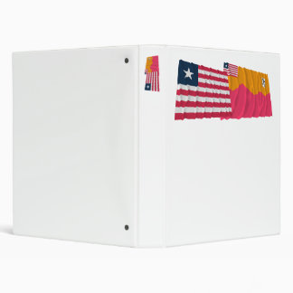 Liberia and Bong County Waving Flags Binders