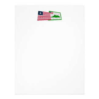 Liberia and Grand Cape Mount County Waving Flags Letterhead