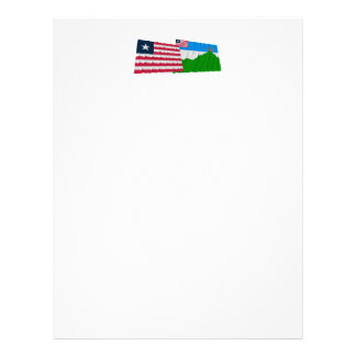 Liberia and Grand Gedeh County Waving Flags Letterhead