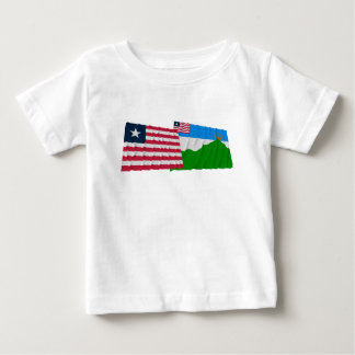 Liberia and Grand Gedeh County Waving Flags T Shirt