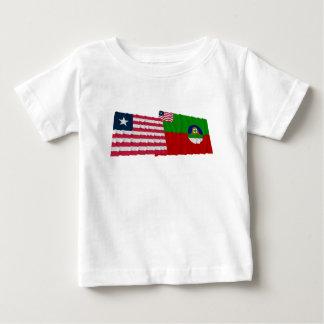 Liberia and Margibi County Waving Flags Baby T-Shirt
