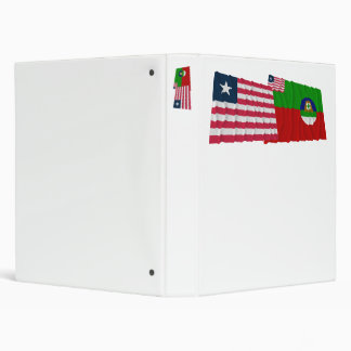 Liberia and Margibi County Waving Flags Binder