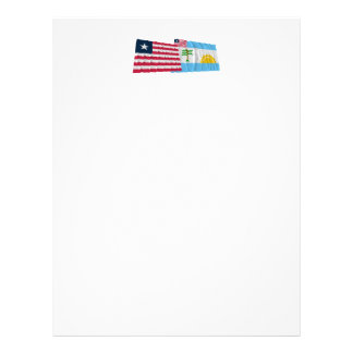 Liberia and River Cess County Waving Flags Letterhead