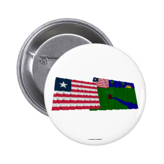 Liberia and River Gee County Waving Flags Pins
