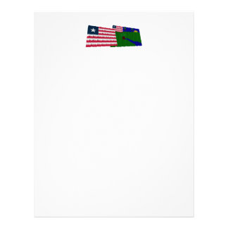Liberia and River Gee County Waving Flags Letterhead