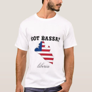LIBERIA (BASSA TRIBE)FEMALE FLAG T-SHIRT