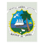 Liberia Coat of Arms detail Post Cards
