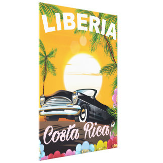 Liberia, Costa Rica vintage travel poster Canvas Print
