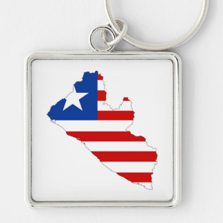 liberia country flag map shape symbol keychain