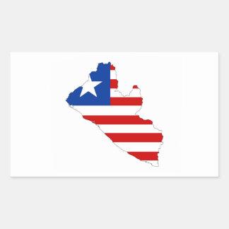 liberia country flag map shape symbol rectangular sticker