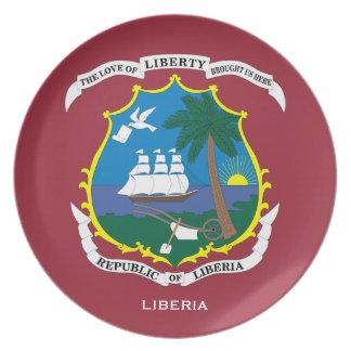 Liberia Crest Wall Plate / Liberia crête plaque