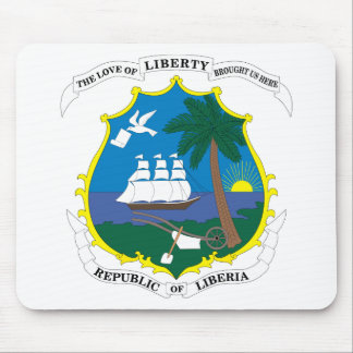 liberia emblem mouse pad