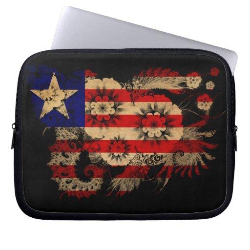 Liberia Flag Computer Sleeve