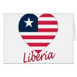Liberia Flag Heart Greeting Card