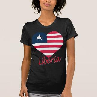 Liberia Flag Heart T-Shirt