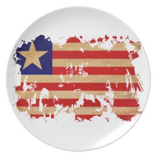Liberia Flag Dinner Plate