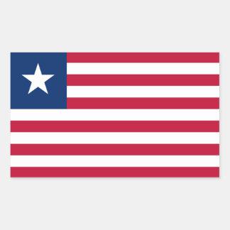 Liberia Flag Rectangle Sticker