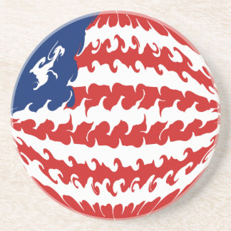 Liberia Gnarly Flag Drink Coasters