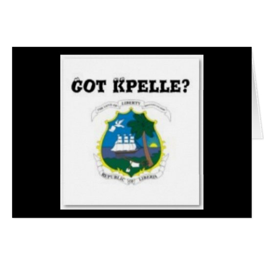 LIBERIA (KPELE TRIBE)MAP T-SHIRT AND ETC CARD