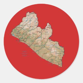 Liberia Map Sticker