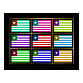 Liberia Multihue Flags Postcard