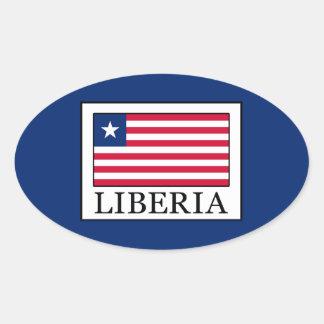 Liberia Oval Sticker