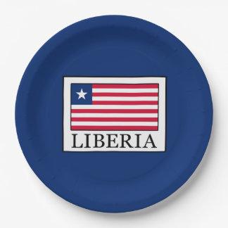 Liberia Paper Plate