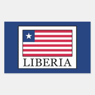 Liberia Rectangular Sticker
