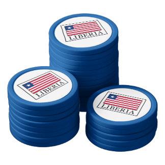 Liberia Set Of Poker Chips