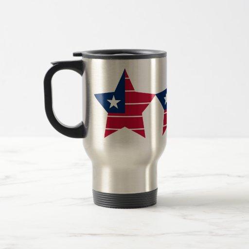 Liberia Star 15 Oz Stainless Steel Travel Mug