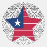 Liberia Star Classic Round Sticker