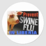 liberia (swine flu) classic round sticker