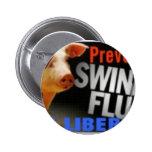 liberia (swine flu) pinback buttons