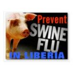liberia (swine flu) postcard
