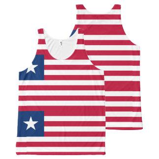Liberian flag All-Over print tank top