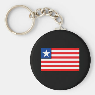 Liberian Flag T-shirts and Gifts Basic Round Button Keychain