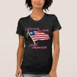 Liberiano por el nacimiento ahorrado por la gracia camisetas
