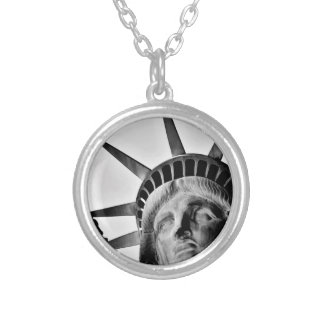 Libert lady round pendant necklace