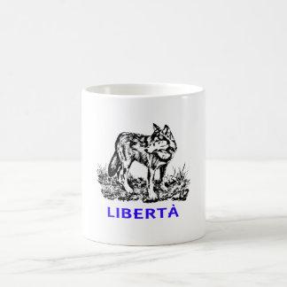 Libertà - Lupo allo stato selvatico Magic Mug