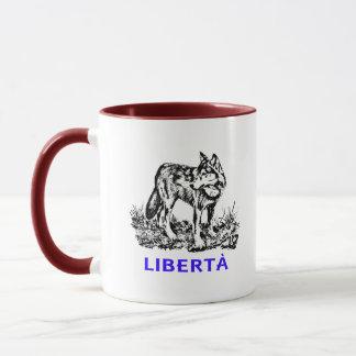 Libertà - Lupo allo stato selvatico Mug