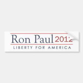 Libertad 2012 de Ron Paul para América Pegatina De Parachoque